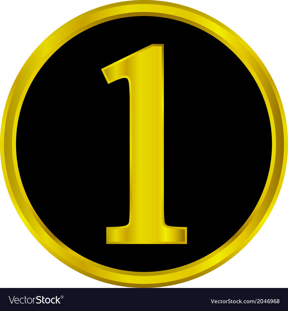 Number one button vector | Price: 1 Credit (USD $1)