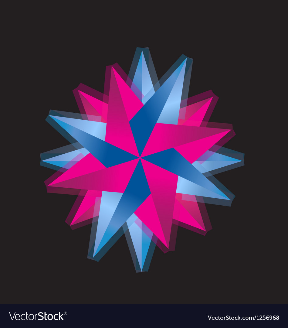 Pink and blue abstract rose logo vector | Price: 1 Credit (USD $1)
