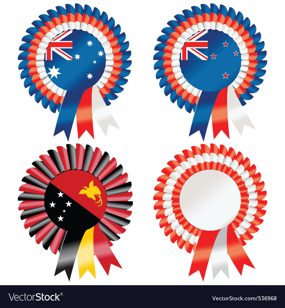 Rosettes to represent australasia including austra vector | Price: 1 Credit (USD $1)