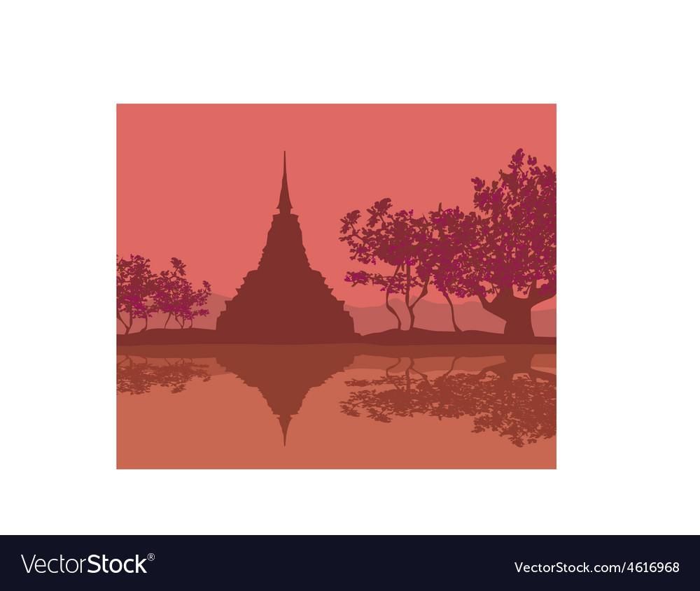 Sukhothai historical park sukhothai province vector | Price: 1 Credit (USD $1)