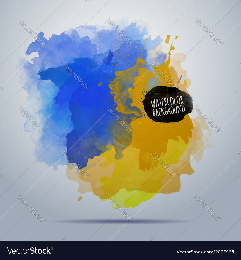 Watercolor paint abstract background vector | Price: 1 Credit (USD $1)