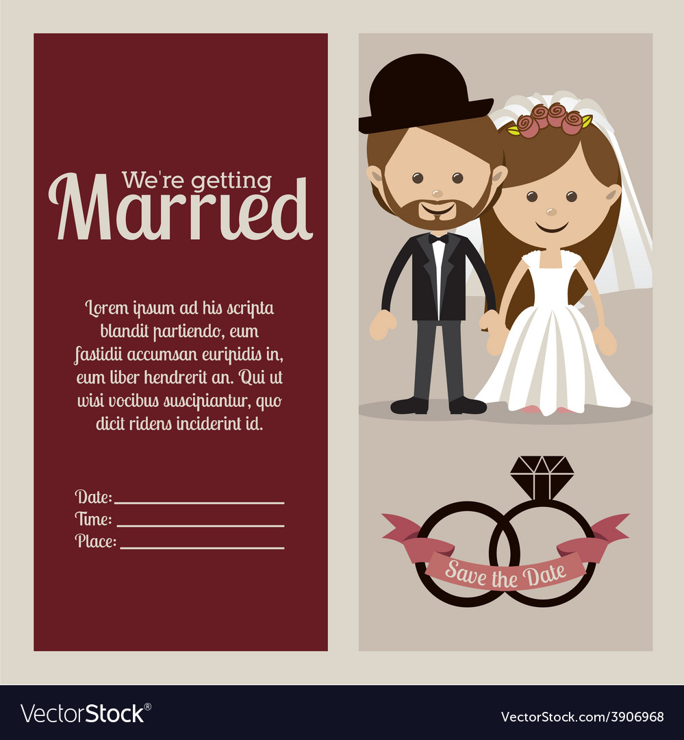Wedding design over beige background vector | Price: 1 Credit (USD $1)