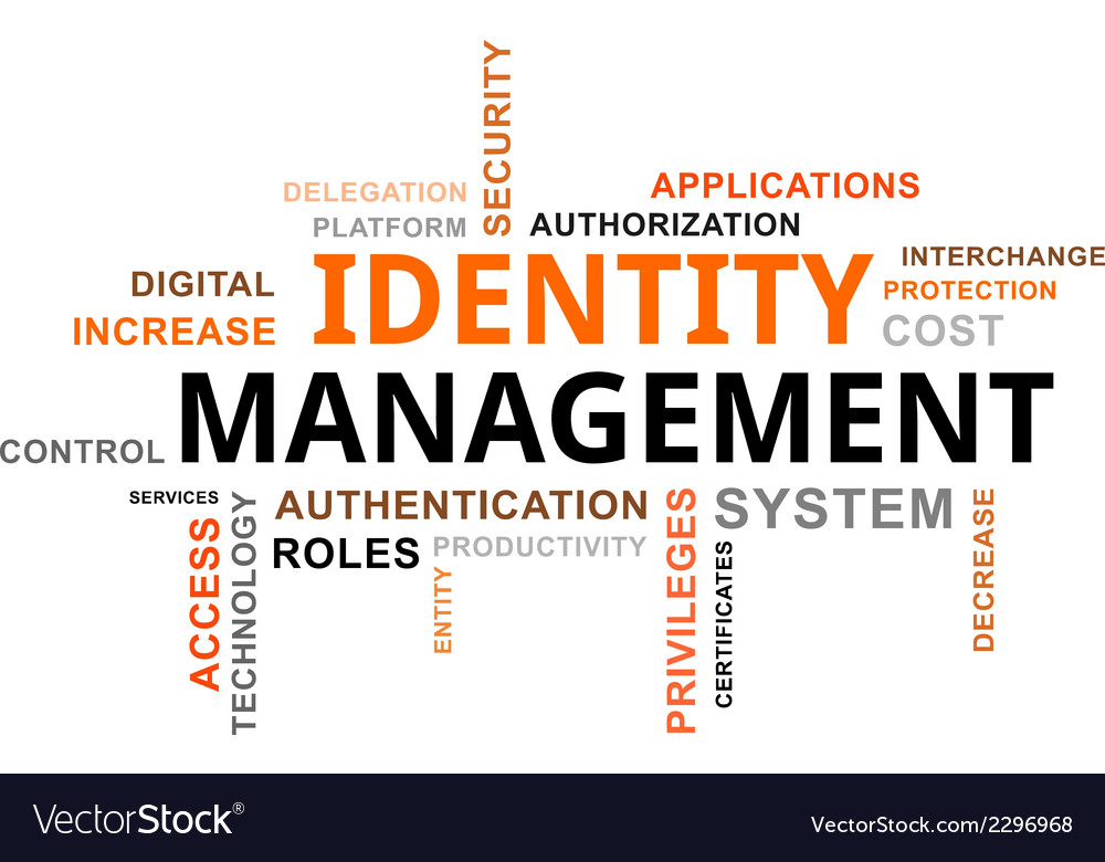 Word cloud identity management vector | Price: 1 Credit (USD $1)