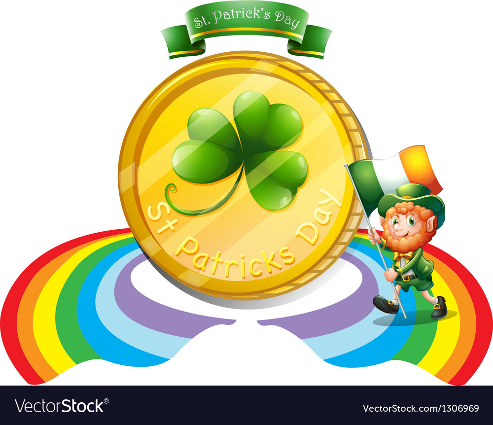 A big golden coin for st patricks day vector | Price: 1 Credit (USD $1)