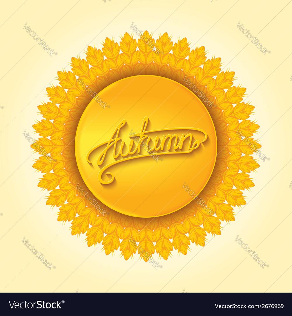 Autumn round design element vector   Price: 1 Credit (USD $1)
