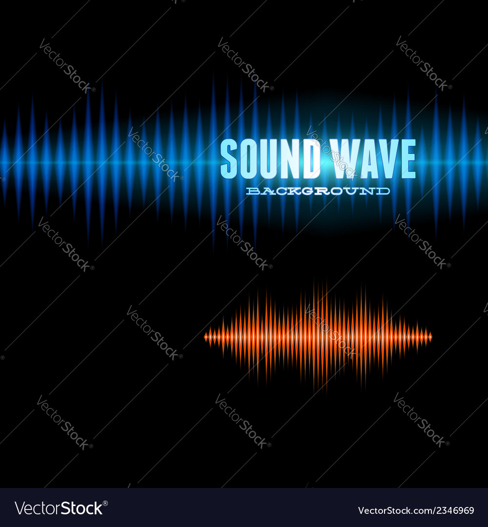 Blue and orange shiny sound waveform background vector | Price: 1 Credit (USD $1)