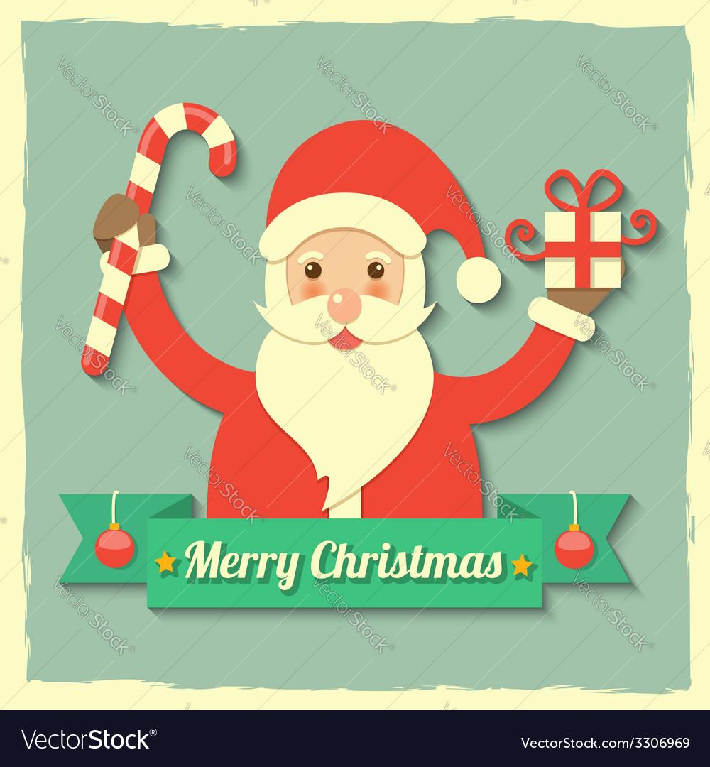 Christmas santa claus background vector