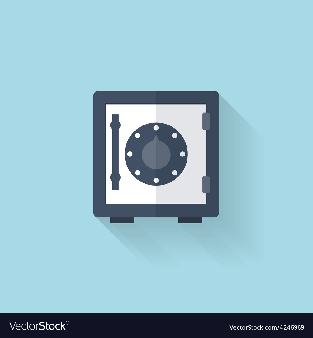 Flat web icon safe bank deposit vector | Price: 1 Credit (USD $1)