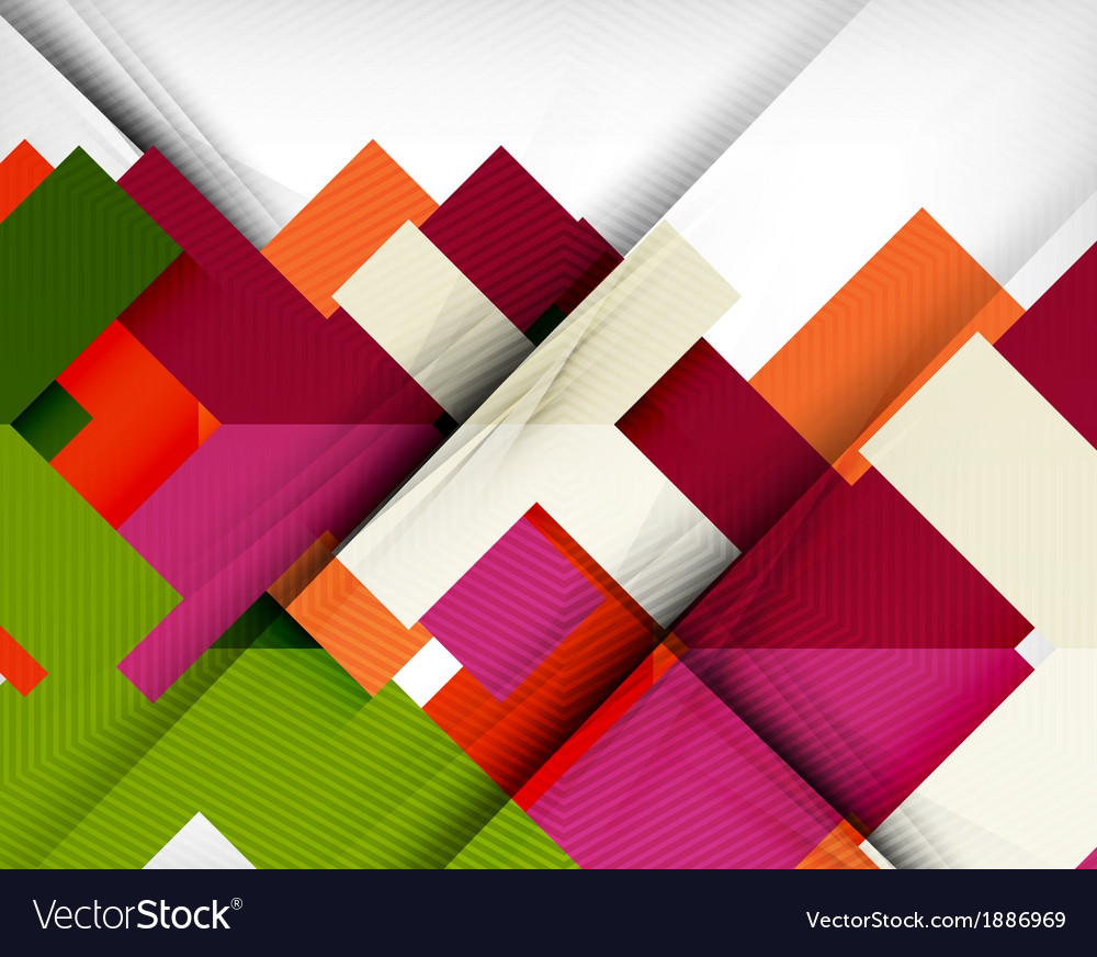 Geometric shape flat abstract background vector | Price: 1 Credit (USD $1)