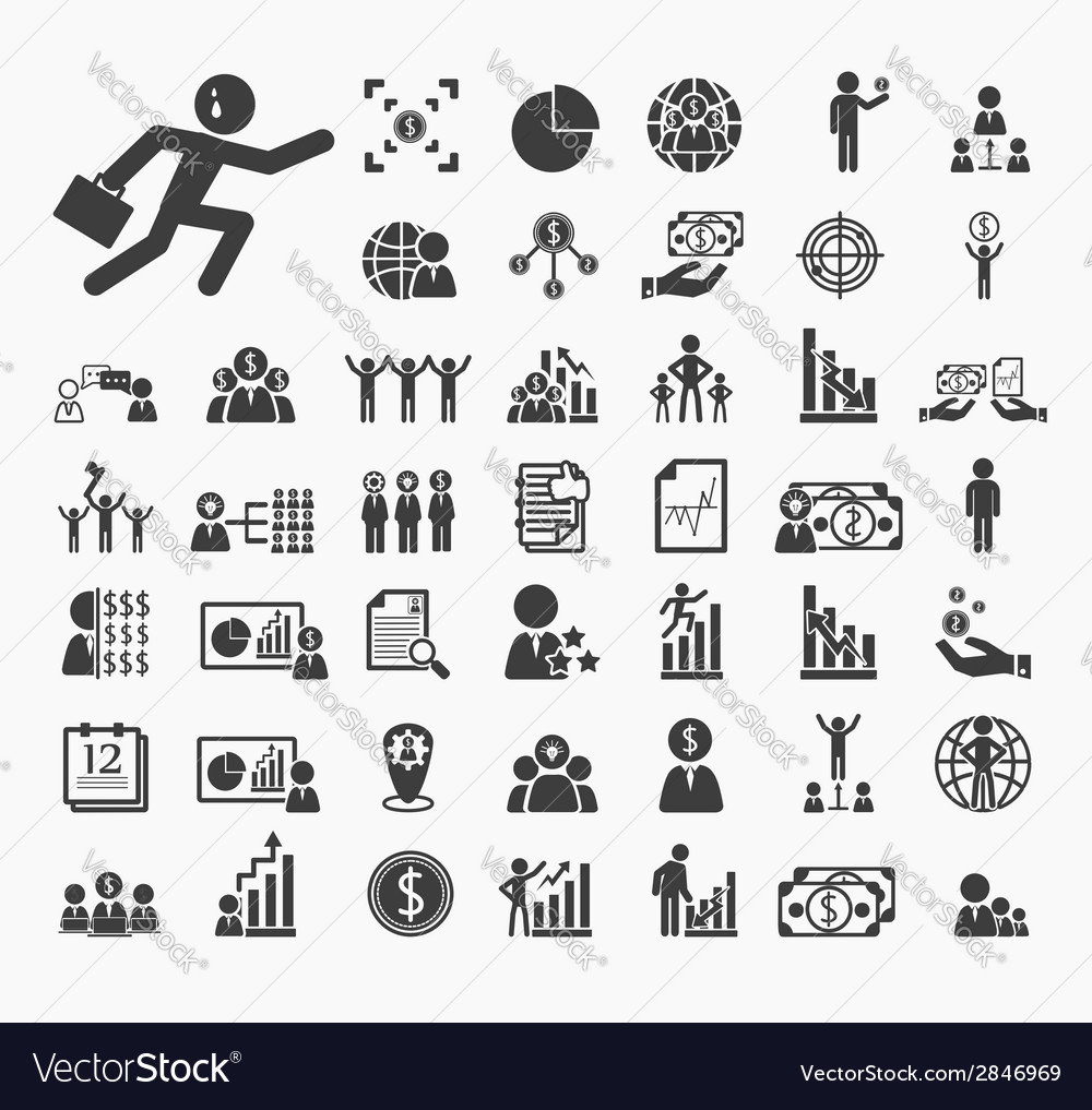 Human resource icons set vector | Price: 1 Credit (USD $1)
