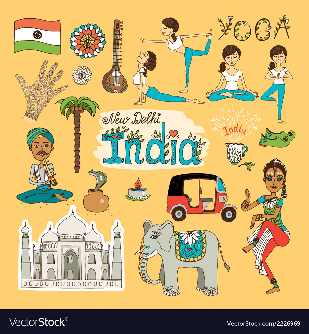 India landmarks vector | Price: 1 Credit (USD $1)