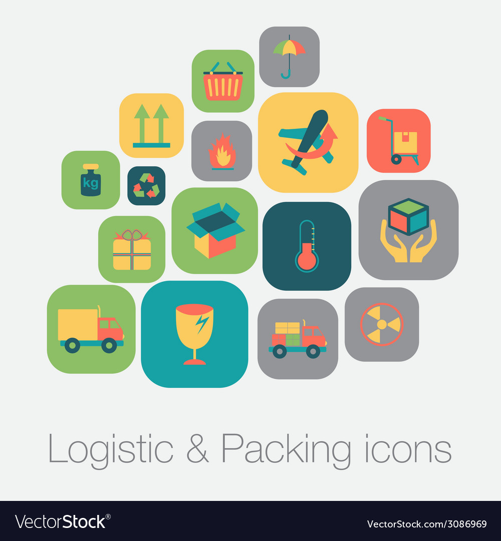 Logistic and packing icon vector | Price: 1 Credit (USD $1)