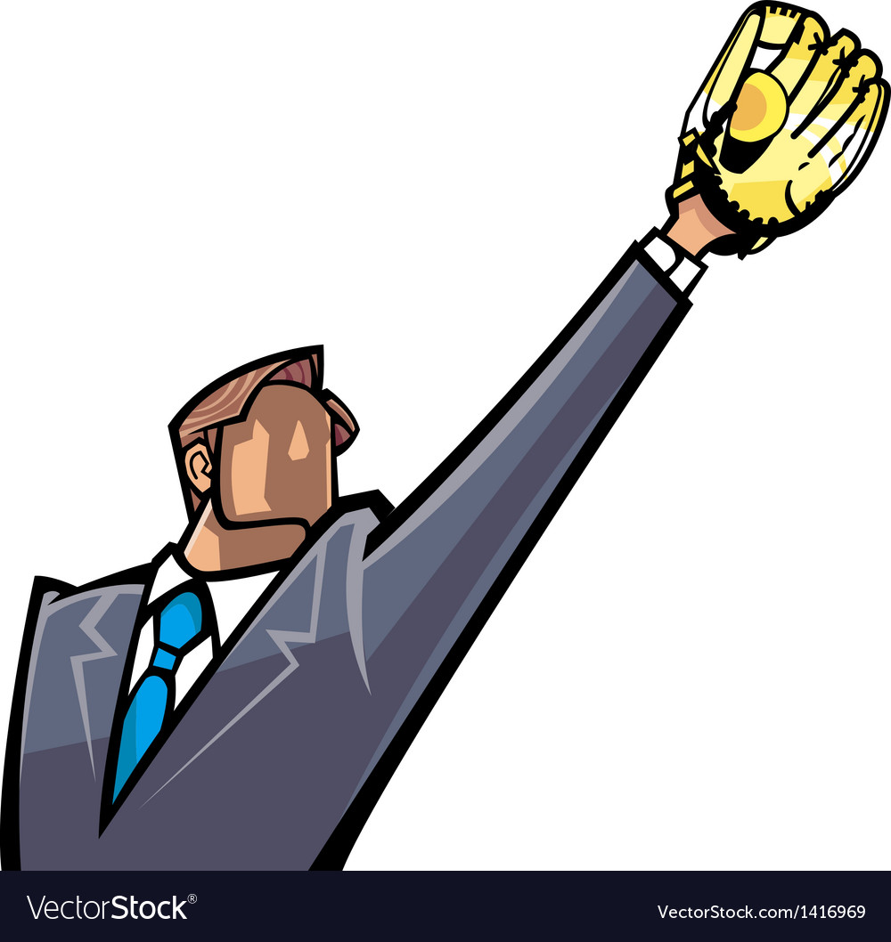 Man catching ball vector | Price: 1 Credit (USD $1)