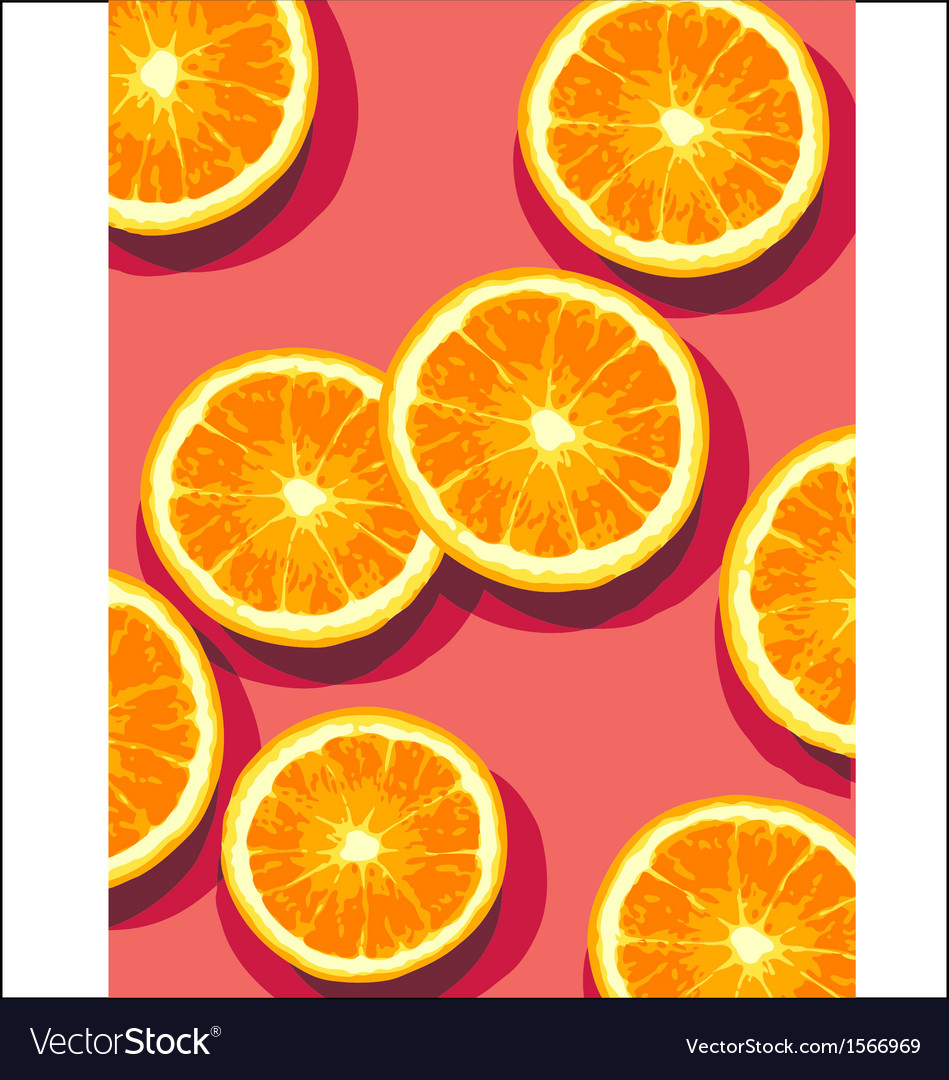 Oranges on pink vector | Price: 3 Credit (USD $3)