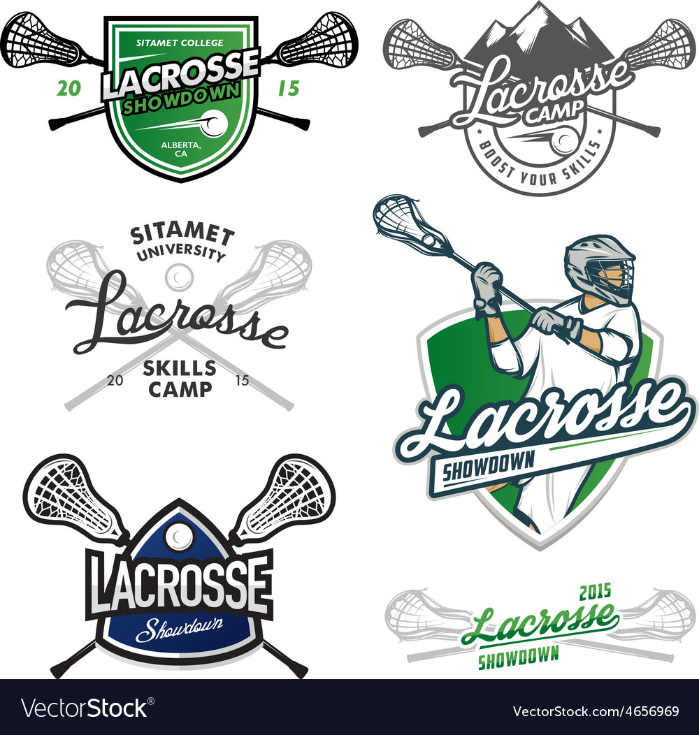 Set of lacrosse design elements vector | Price: 1 Credit (USD $1)
