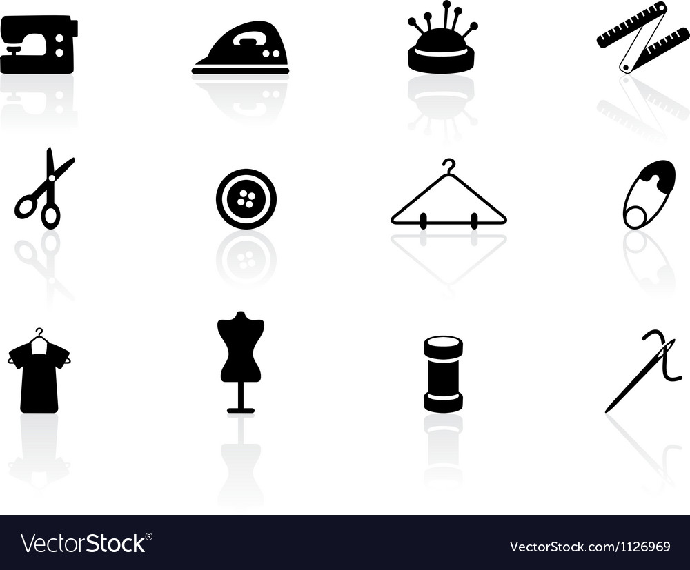 Sewing symbols vector | Price: 1 Credit (USD $1)