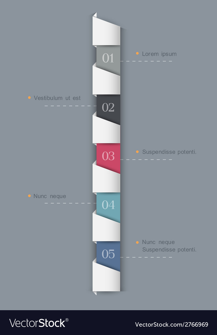 Vertical paper numbered banners vector | Price: 1 Credit (USD $1)