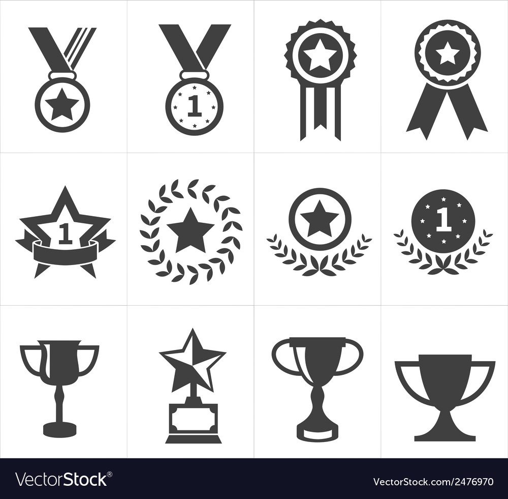 Icon trophy award vector | Price: 1 Credit (USD $1)