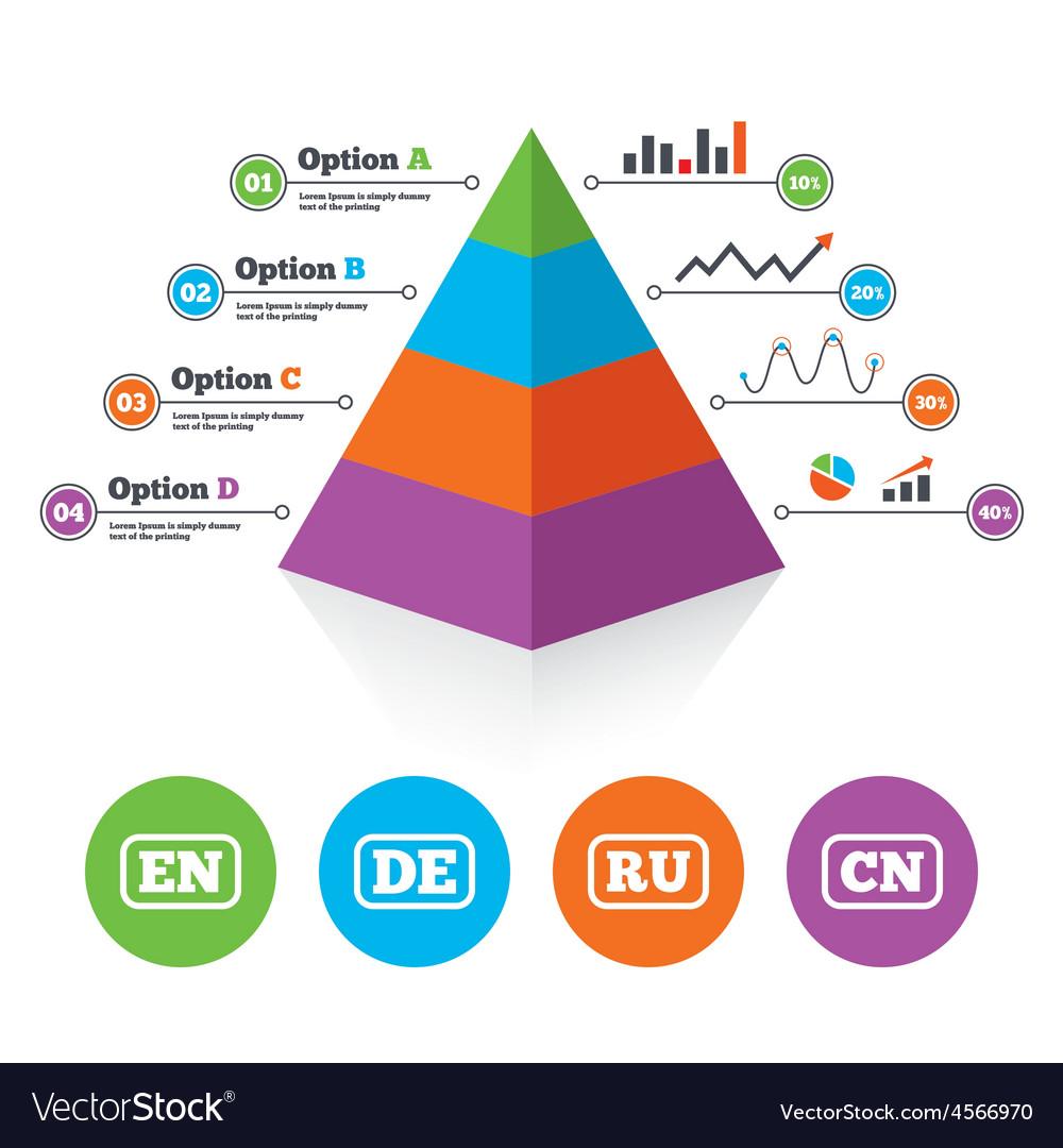 Language icons en de ru and cn translation vector   Price: 1 Credit (USD $1)
