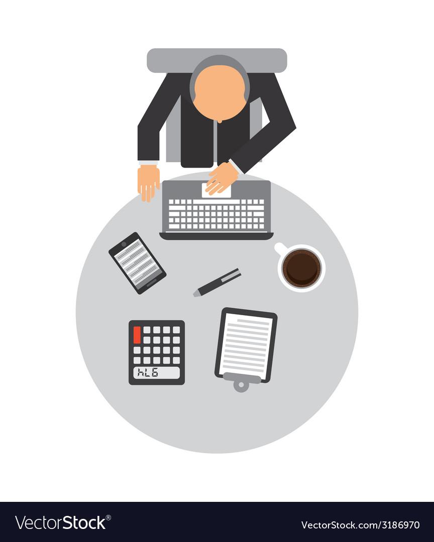 Office design vector | Price: 1 Credit (USD $1)