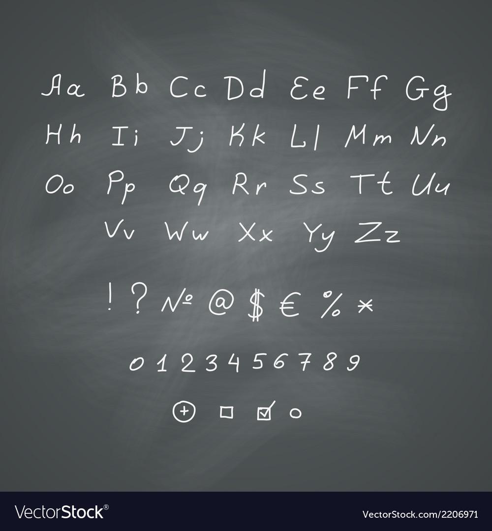 Alphabet on chalkboard vector   Price: 1 Credit (USD $1)