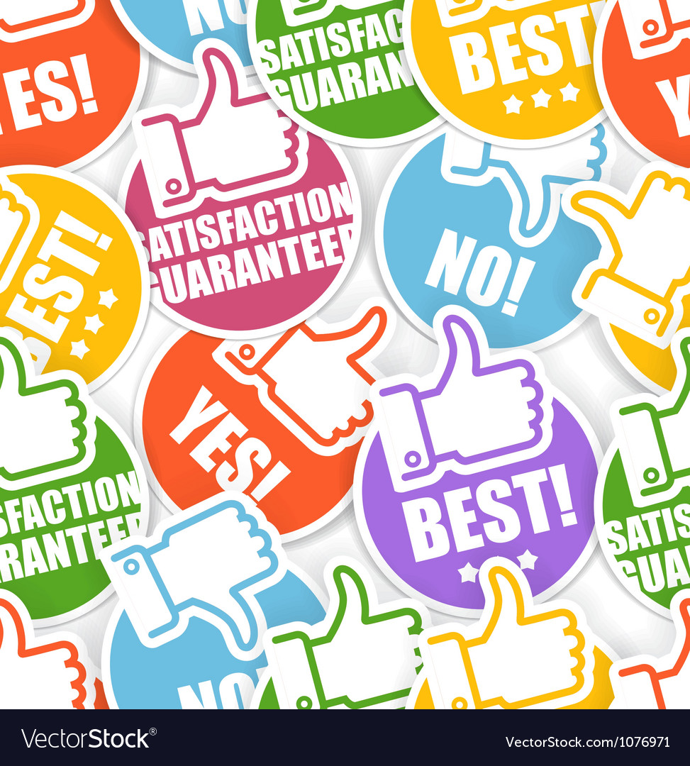Approval paper stickers seamless background vector | Price: 1 Credit (USD $1)