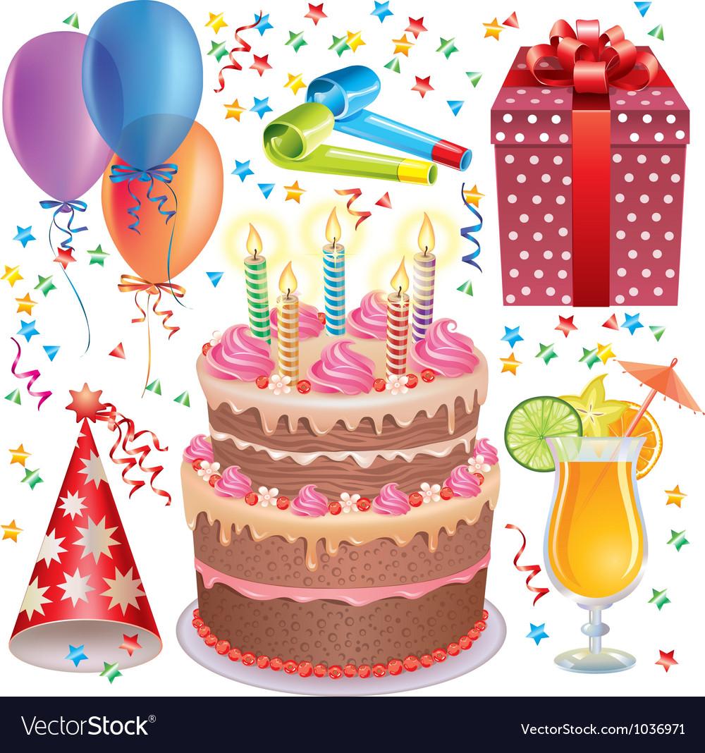 Birthday set vector | Price: 3 Credit (USD $3)