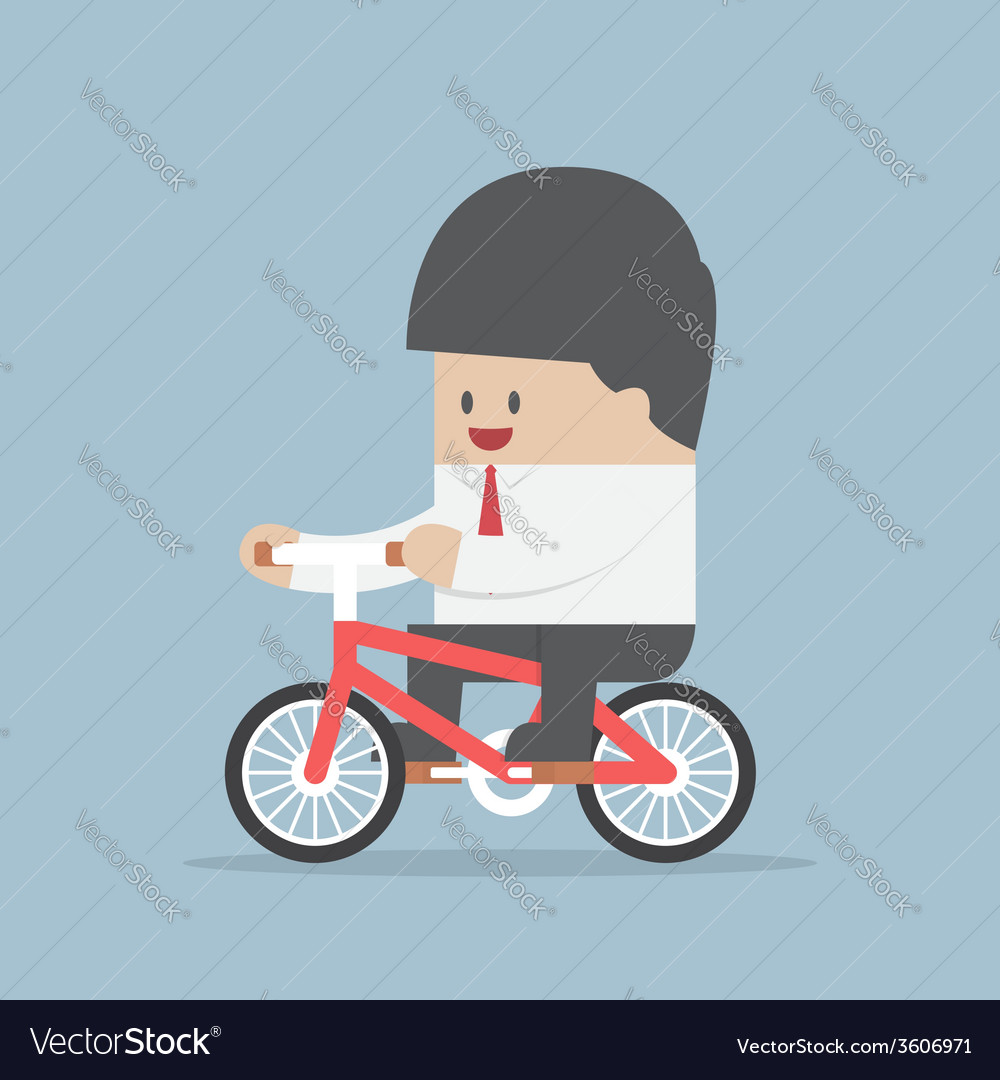 Businessman riding a bicycle to work vector | Price: 1 Credit (USD $1)