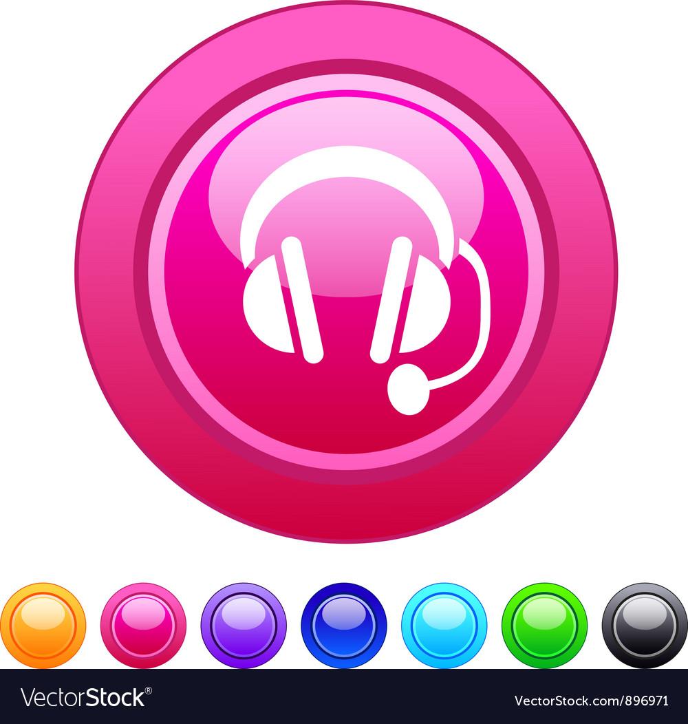 Call center circle button vector | Price: 1 Credit (USD $1)