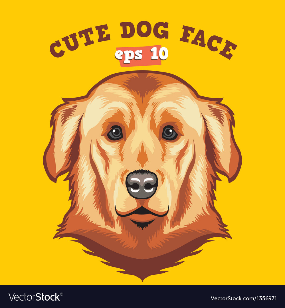 Cute dog face vector | Price: 1 Credit (USD $1)
