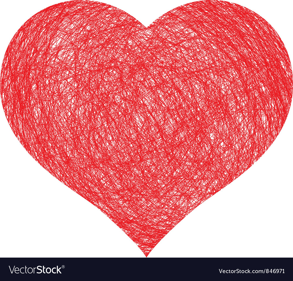 Hand drawn heart vector | Price: 1 Credit (USD $1)
