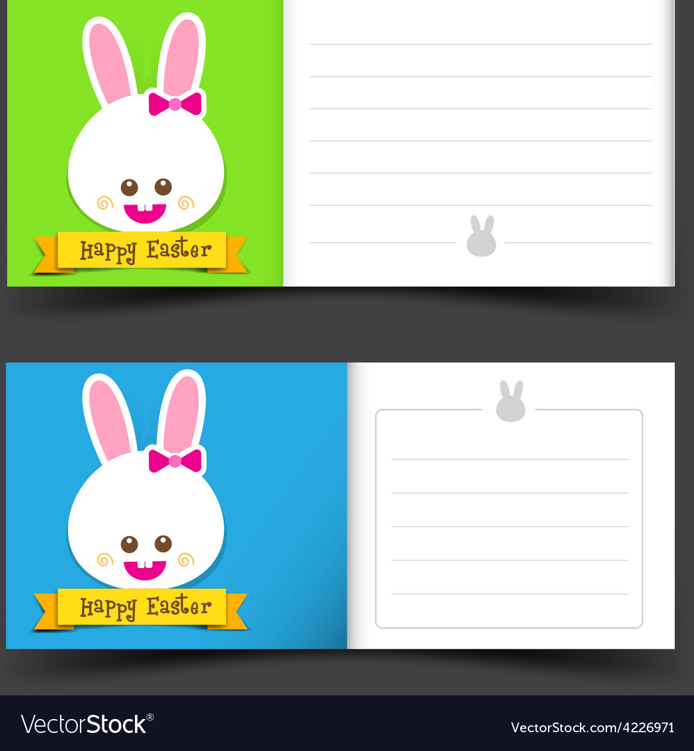 Happy easter tag banner blank template vector | Price: 1 Credit (USD $1)