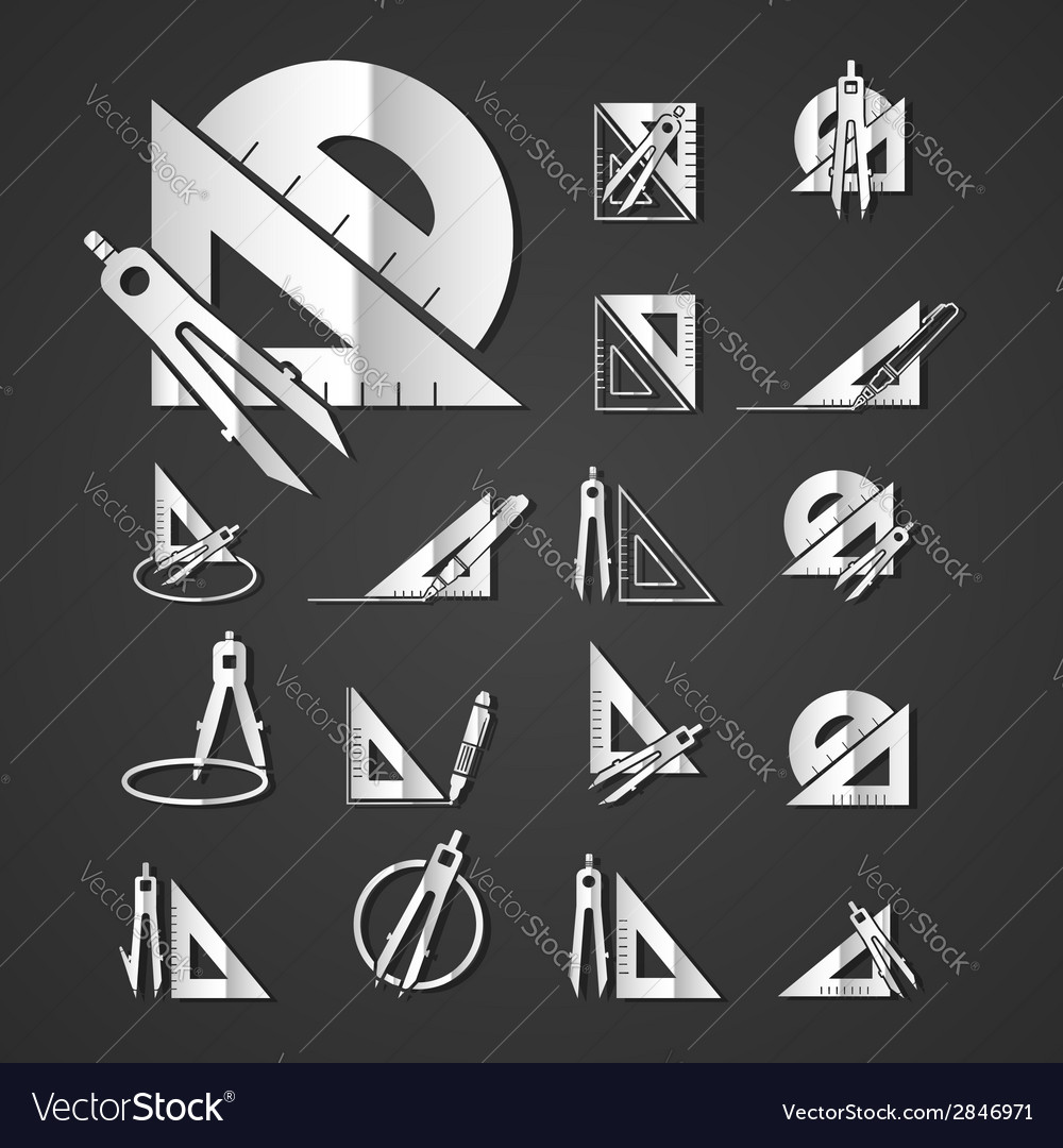 Measurement instrument set vector | Price: 1 Credit (USD $1)