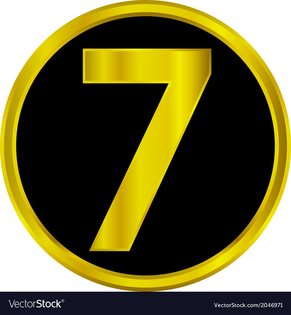 Number seven button vector | Price: 1 Credit (USD $1)