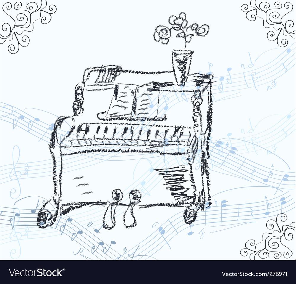 Piano vector | Price: 1 Credit (USD $1)
