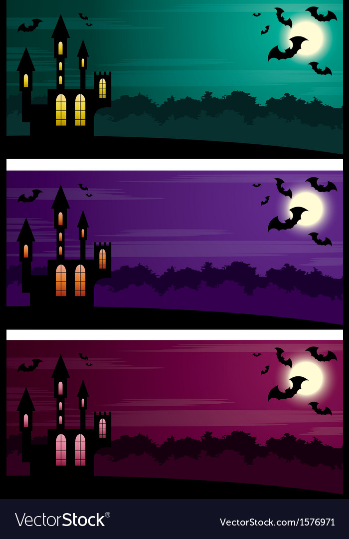 Three halloween banners vector   Price: 1 Credit (USD $1)