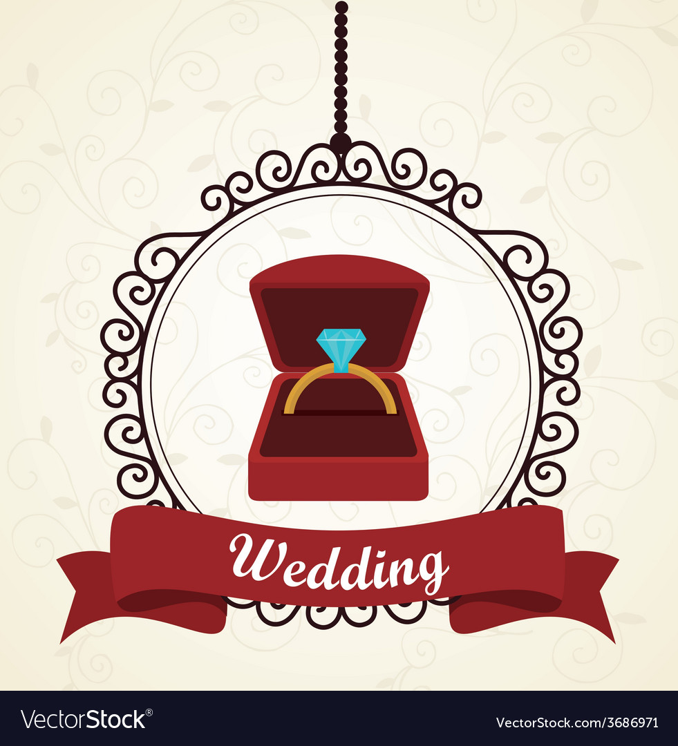 Wedding design over white background vector | Price: 1 Credit (USD $1)