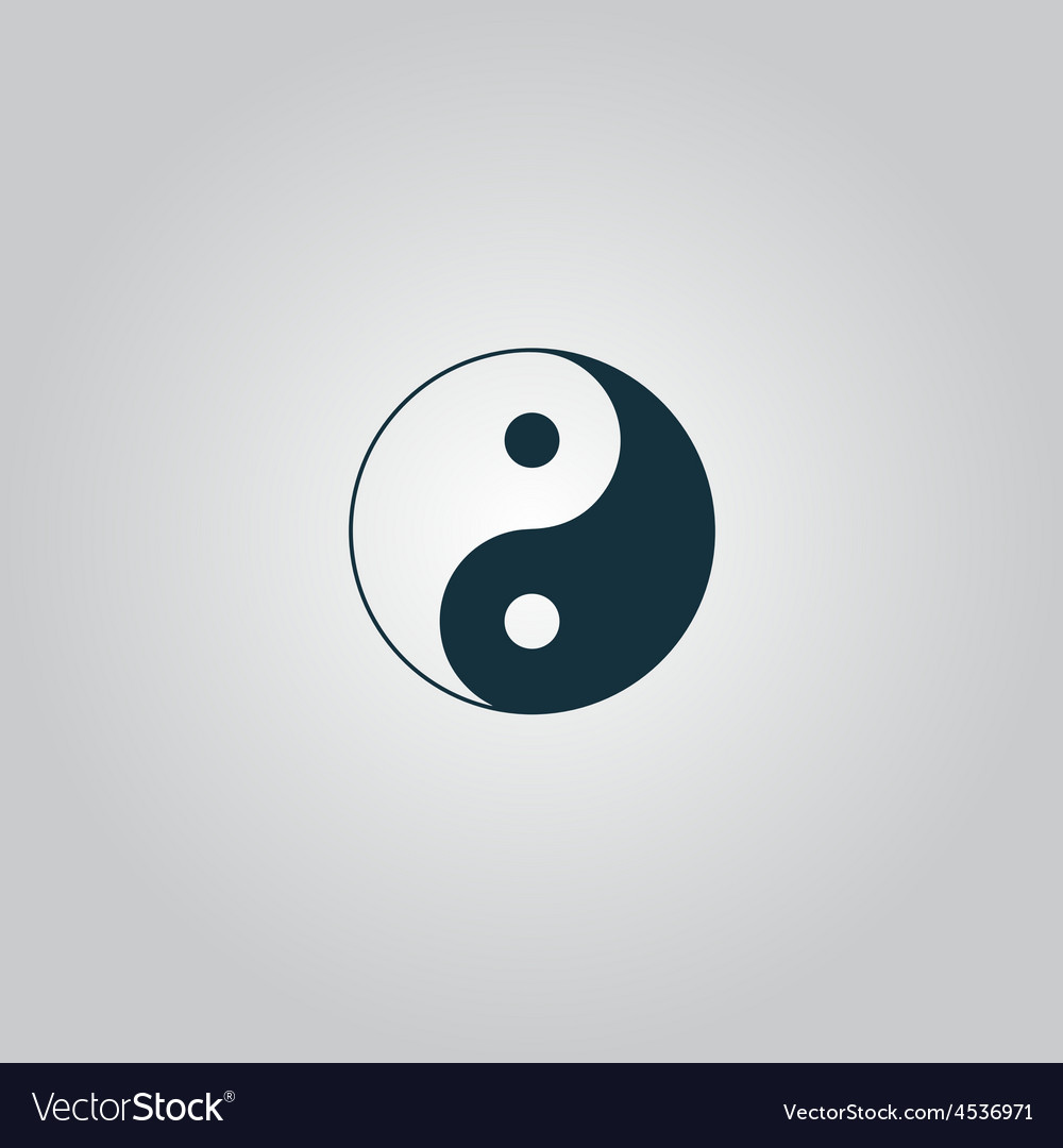 Ying yang symbol of harmony and balance vector | Price: 1 Credit (USD $1)