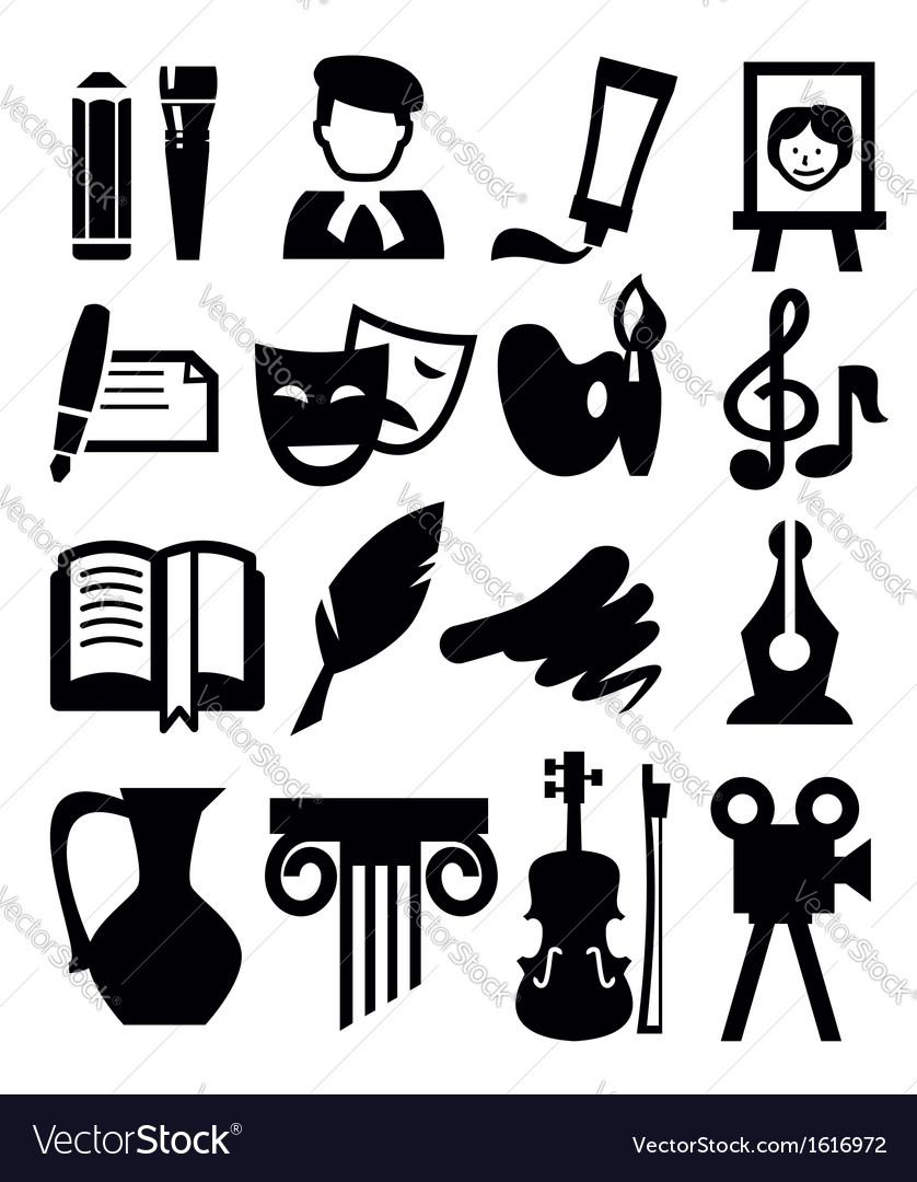 Arts icon vector | Price: 1 Credit (USD $1)