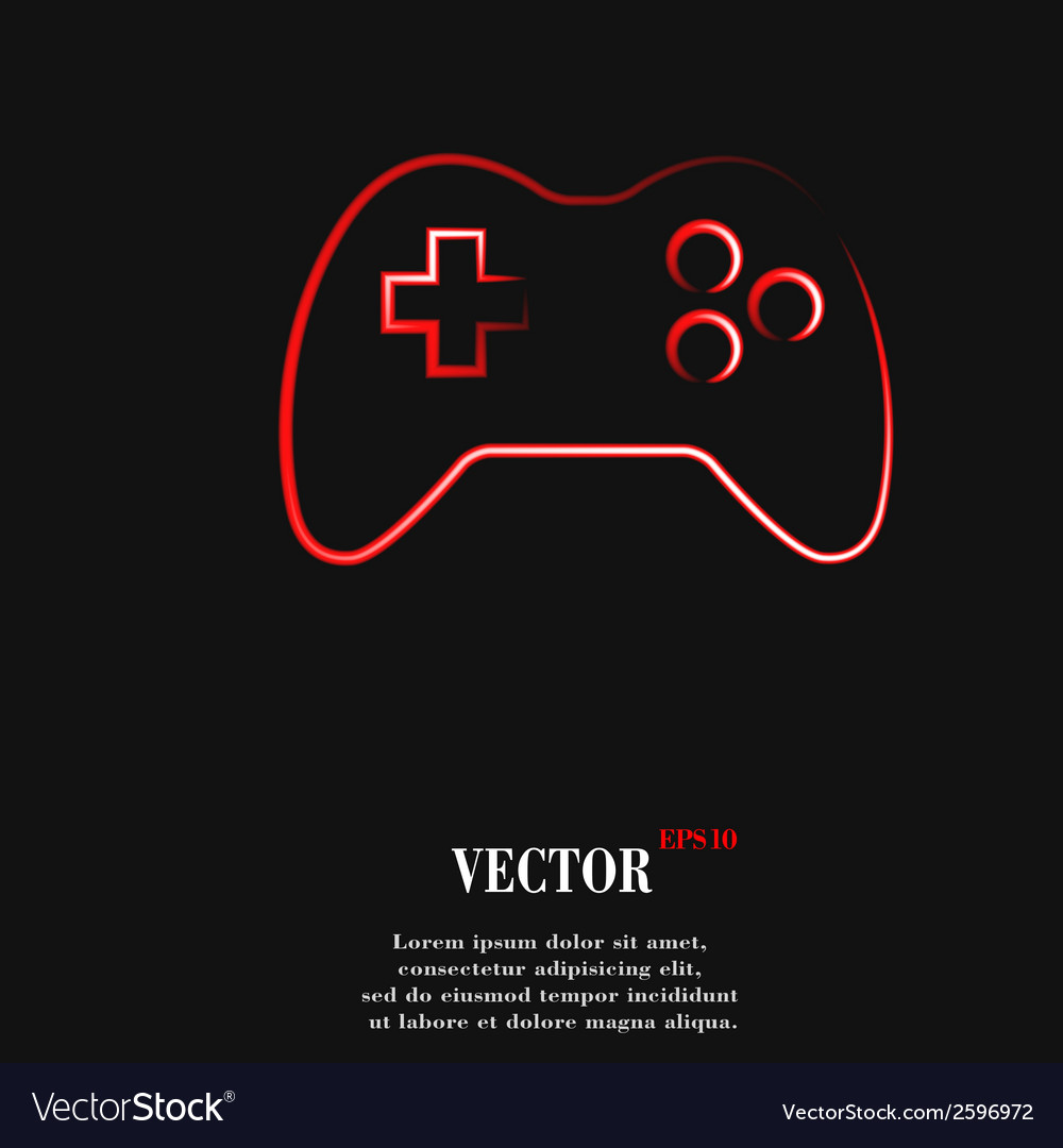 Gaming joystick flat modern web button and space vector | Price: 1 Credit (USD $1)
