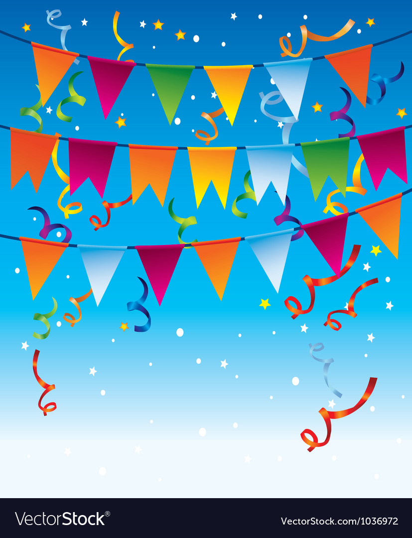 Holiday background with bright flags vector | Price: 1 Credit (USD $1)