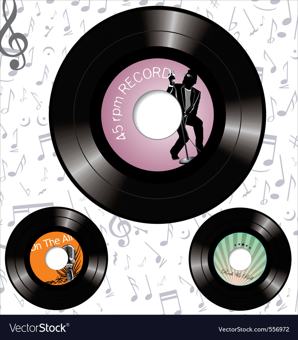 Record labels vector | Price: 1 Credit (USD $1)