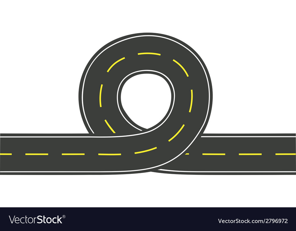 Road with loop vector | Price: 1 Credit (USD $1)