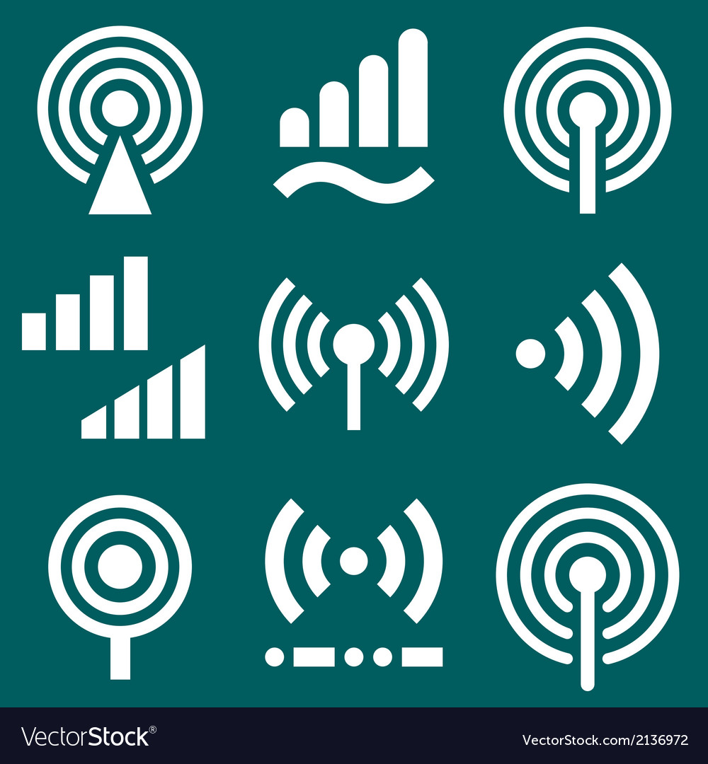 Signal icons vector | Price: 1 Credit (USD $1)