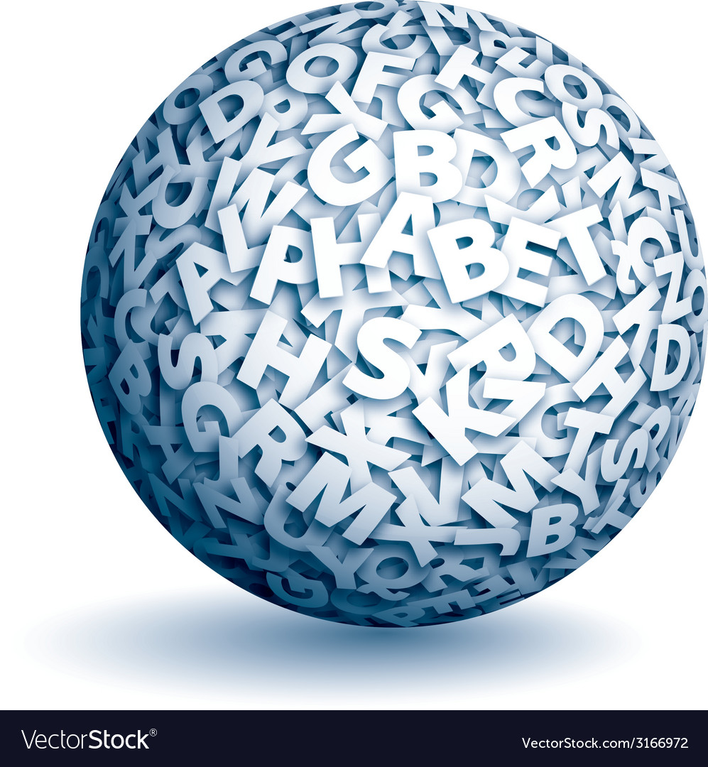 Sphere of letters vector | Price: 1 Credit (USD $1)