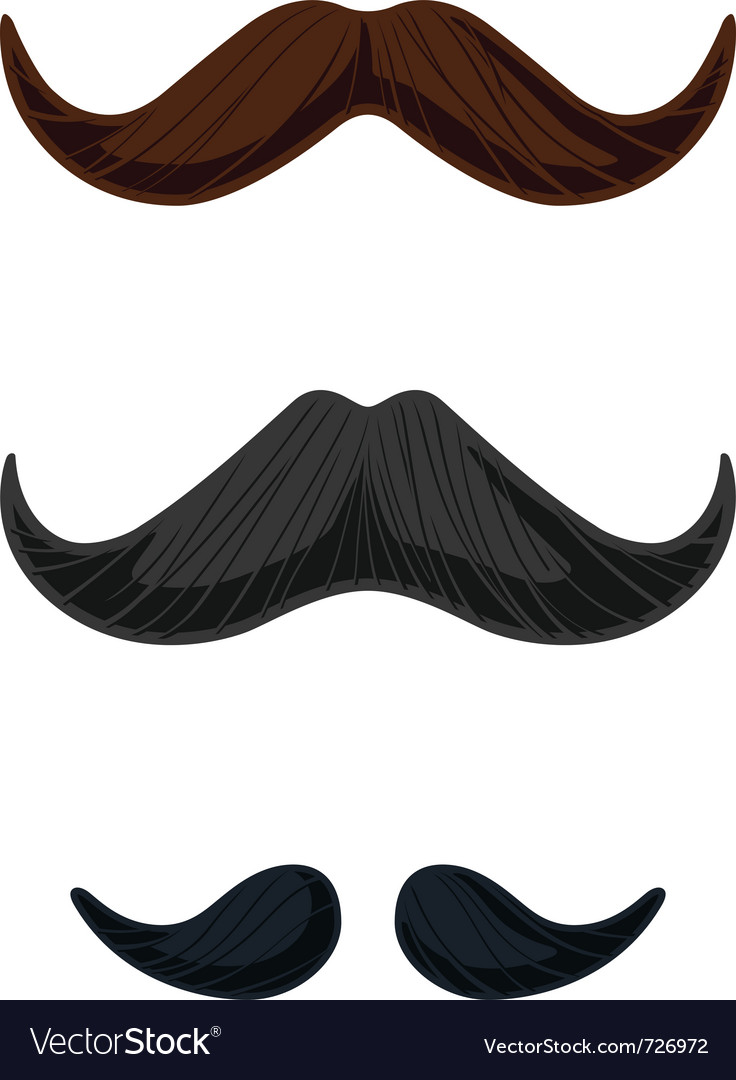 Three english style mustaches vector | Price: 1 Credit (USD $1)