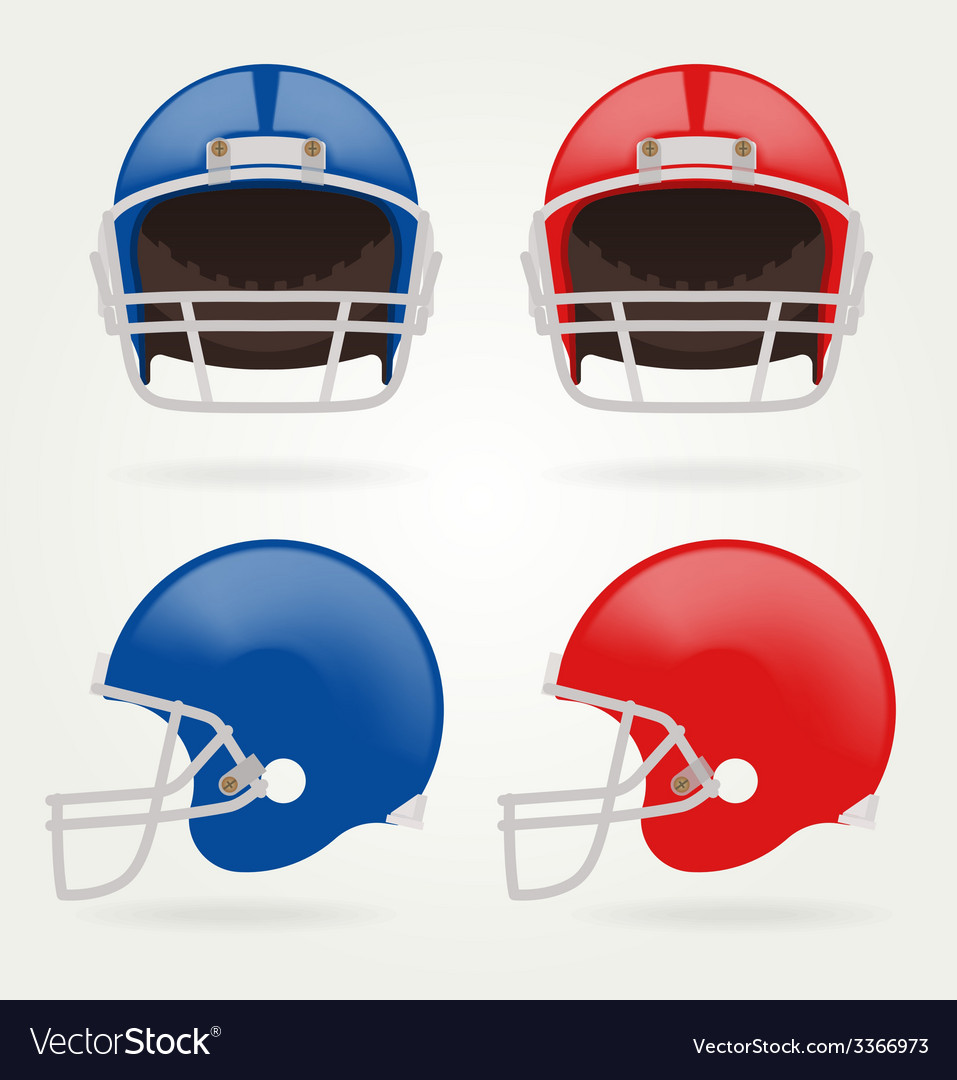 American football set football helmets vector | Price: 1 Credit (USD $1)