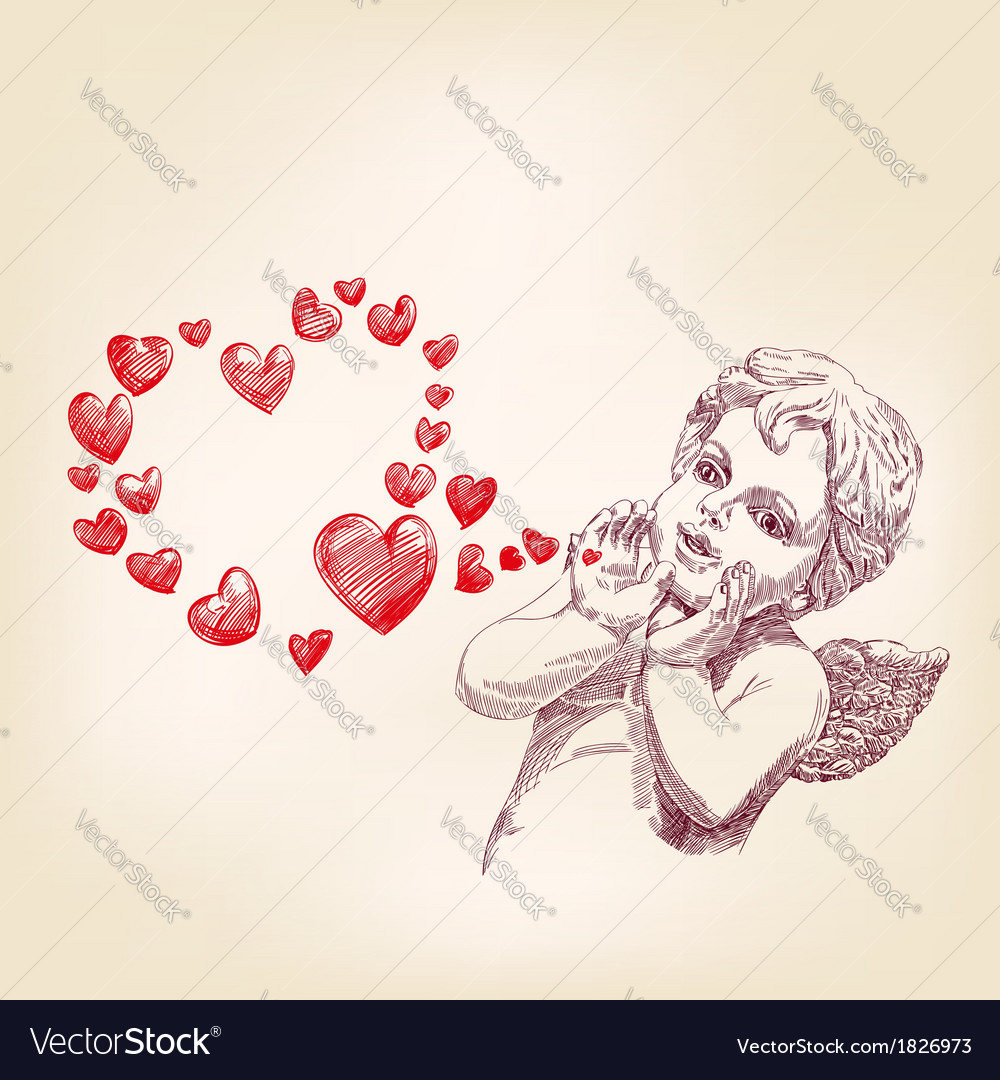 Angel or cupid llustration vector | Price: 1 Credit (USD $1)