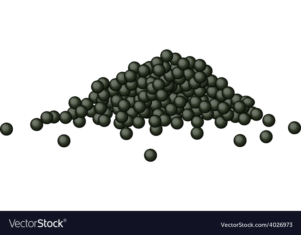Black caviar or black tobiko on white background vector | Price: 1 Credit (USD $1)