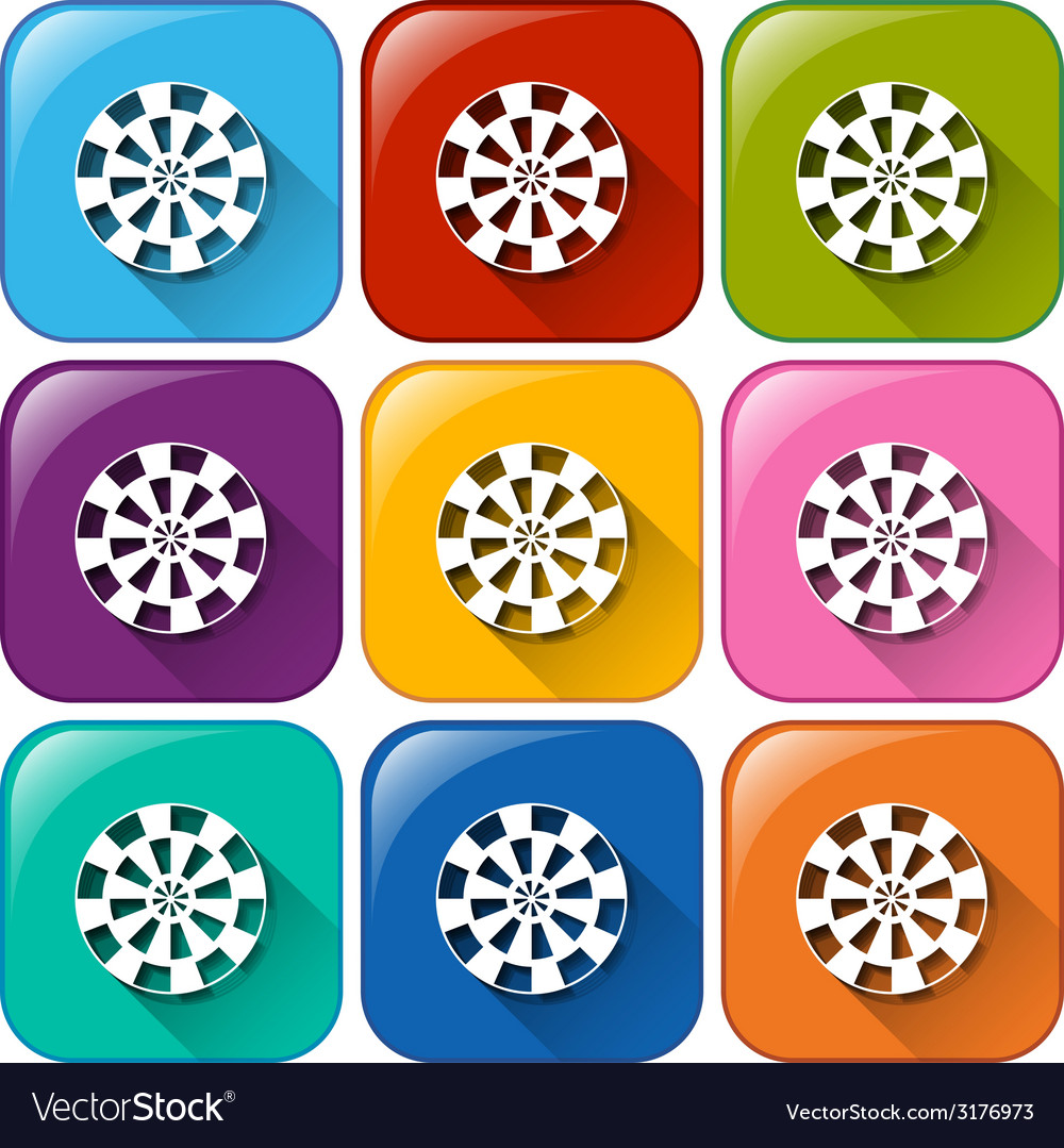 Buttons with the target icons for shooting vector | Price: 1 Credit (USD $1)